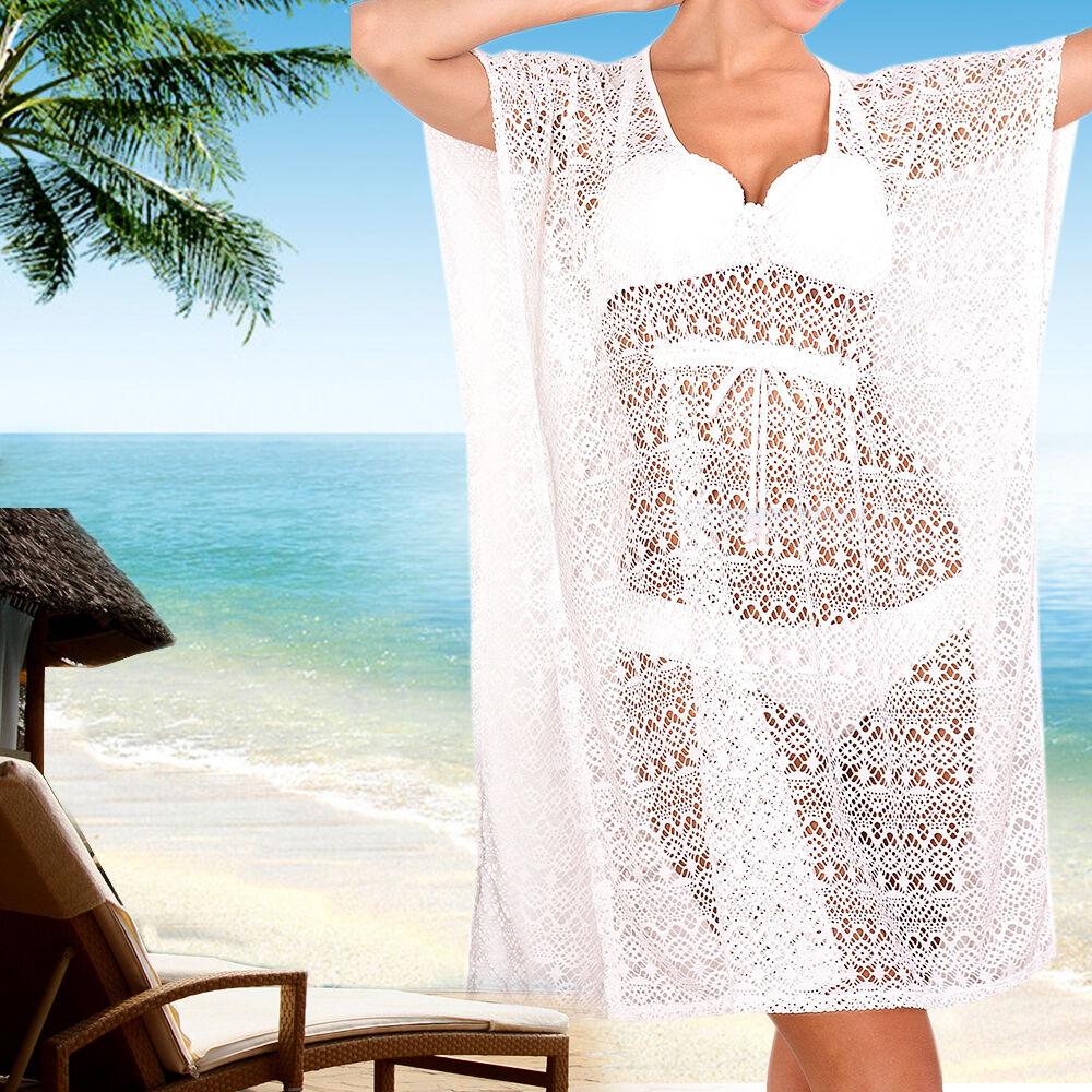 Women summer beach dress swimwear lace crochet bikini cover up picture 1 of 4 bankloansurffo Images