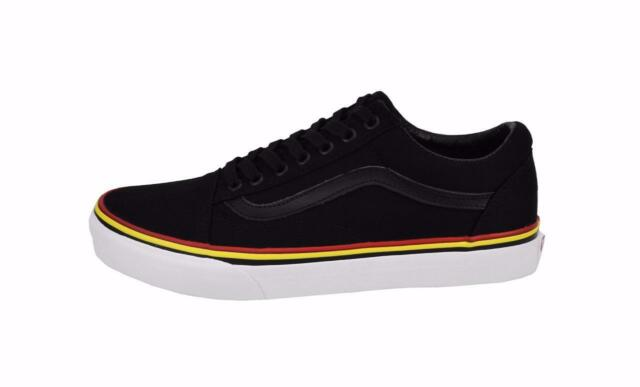 vans shoes black and yellow