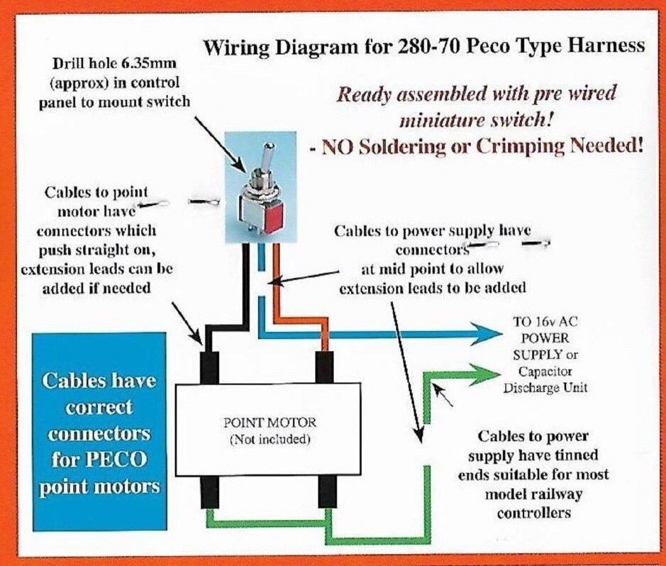 Eze wire switch wiring for peco pl10 point motors no soldering undefined asfbconference2016 Images