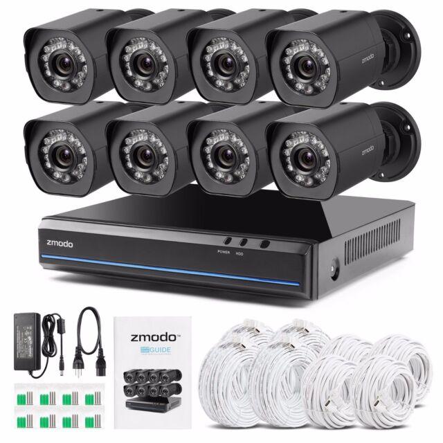 zmodo zs1008 8 kanal nvr video sicherheitssystem 720p hd. Black Bedroom Furniture Sets. Home Design Ideas