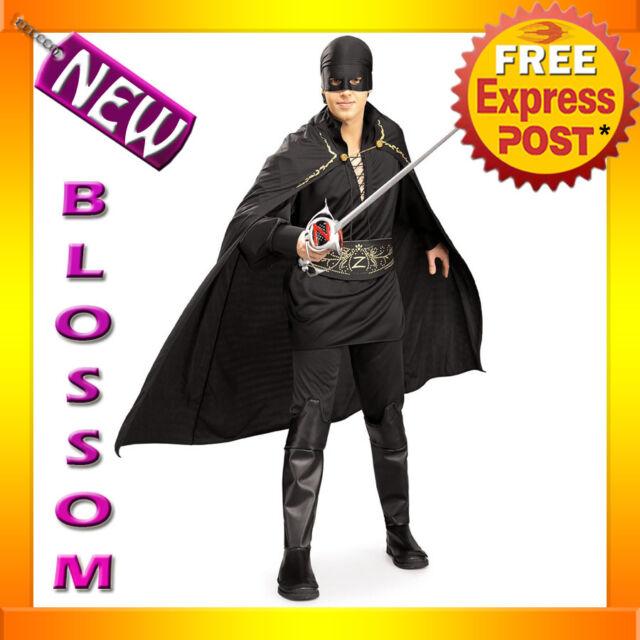 C41 Licensed Zorro Adult Mens Hero Halloween Fancy Dress Adult Costume