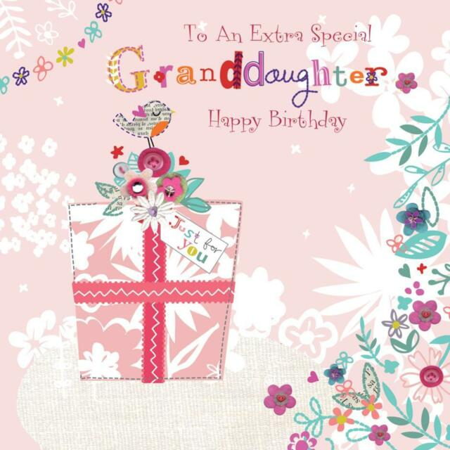 Stunning glittered to an extra special granddaughter birthday stunning glittered to an extra special granddaughter birthday greeting card bookmarktalkfo