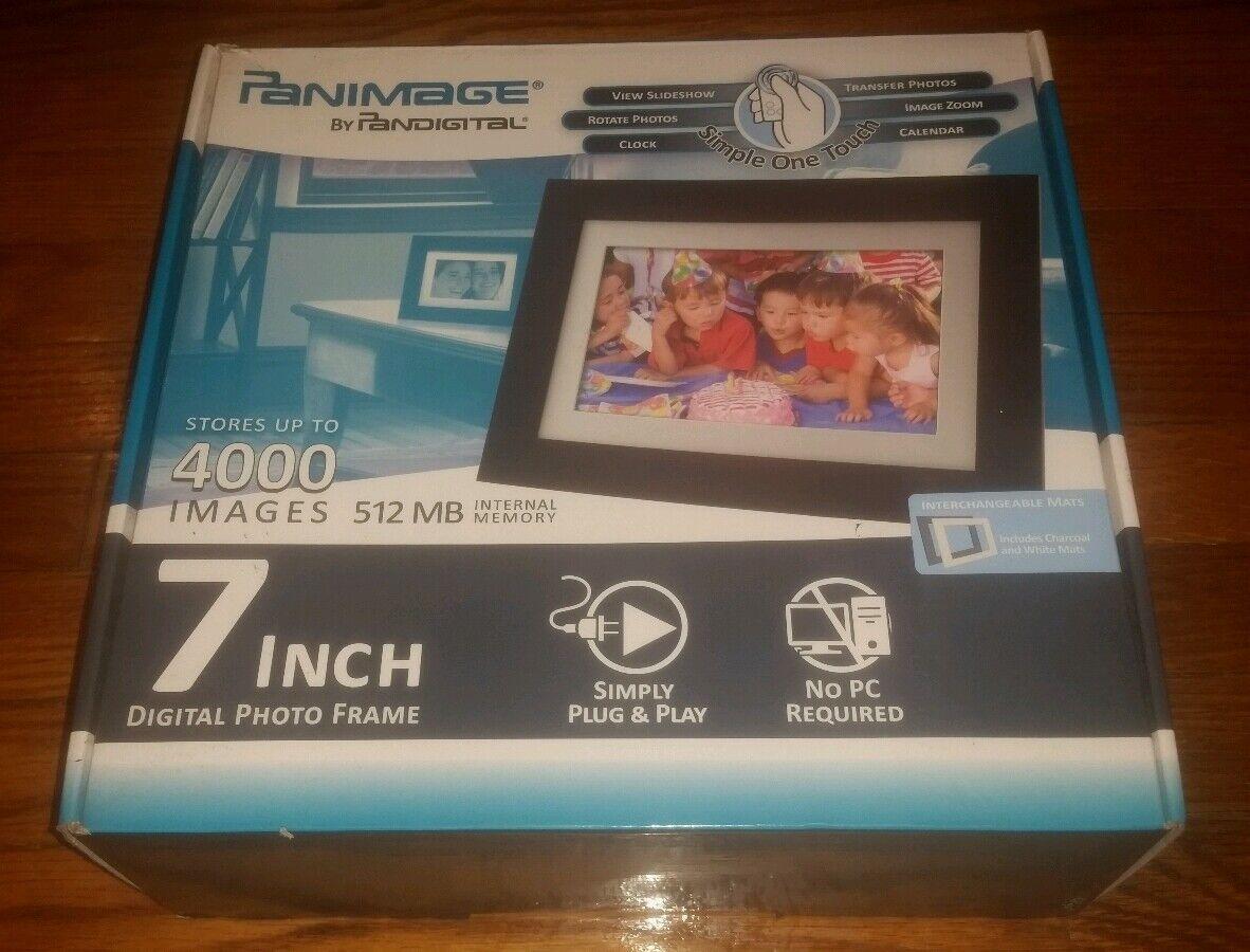 Pandigital Panimage 7 Inch Digital LCD Photo Frame 512 MB 4000 ...