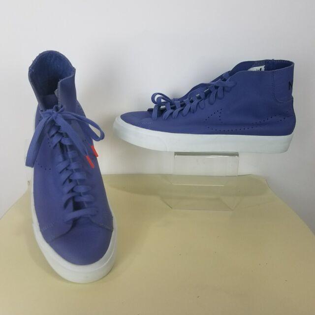 Nike Blazer Studio Italian Leather Mid 880870-400 Blue White Men's 11