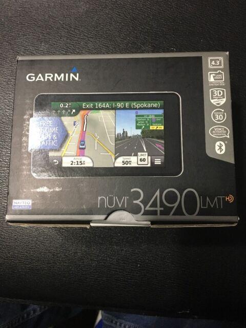 "GARMIN Nuvi 3490 4.3"" Car Mountable GPS  lifetime Maps And Traffic Updates New!"