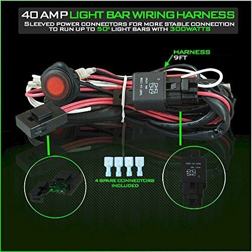 s l640 led light bar wiring harness 12v 40 amp relay with heavy duty 16 led light bar wiring harness heavy duty at mifinder.co