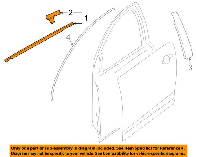 GM OEM-Door Window Sweep-Belt Molding Weatherstrip Left 92277513  sc 1 st  eBay & 2008-2009 Pontiac G8 Chrome Door Window Reveal Trim Kit Moulding ...