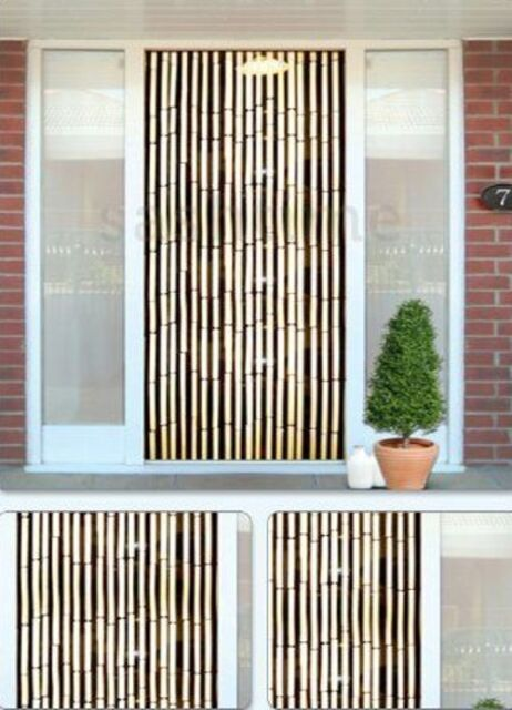 Exceptional BAMBOO EFFECT CURTAIN BLINDS WOODEN BEADED INSECTS FLY DOOR SCREEN SCREENING