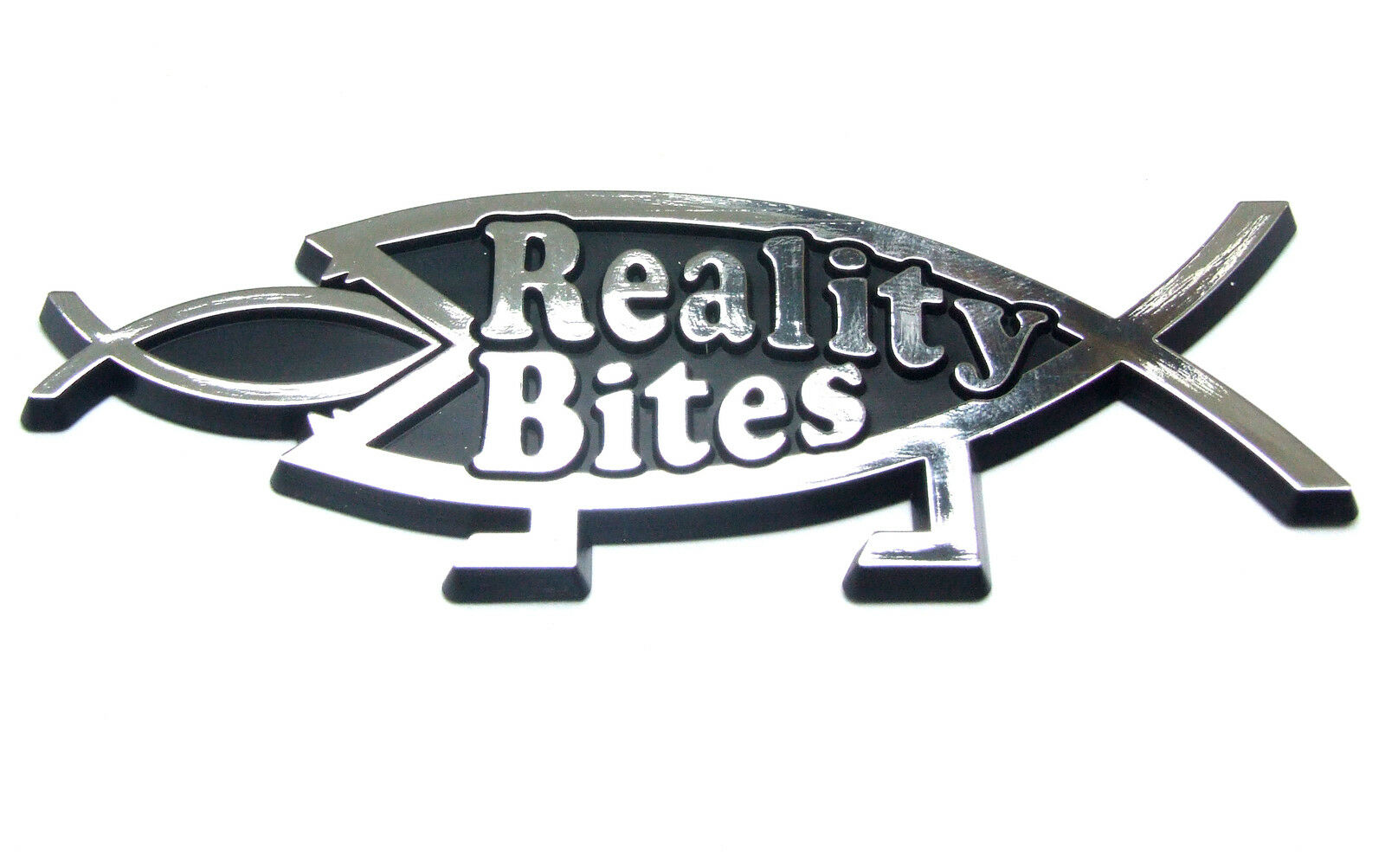 Reality Bites Car Badge Darwin Atheist Secular Emblem Ebay