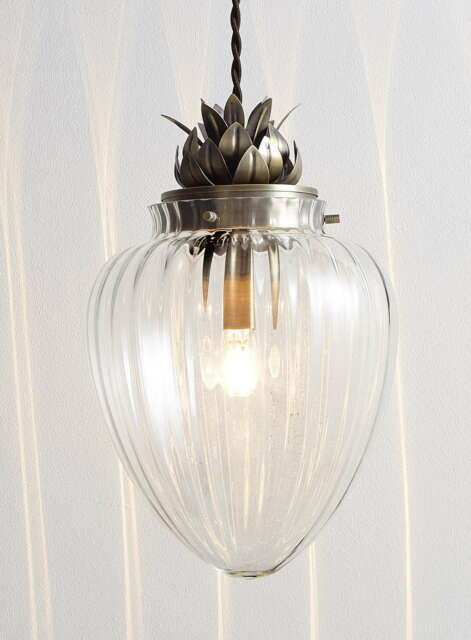 Modern glass antique brass pineapple ceiling pendant light modern glass antique brass pineapple ceiling pendant light fitting bhs janna aloadofball Images