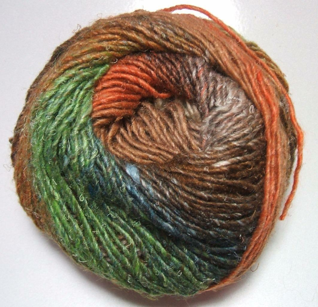 Noro Silk Garden Mohair Wool Rust Brown Green Yarn per Skein Color ...