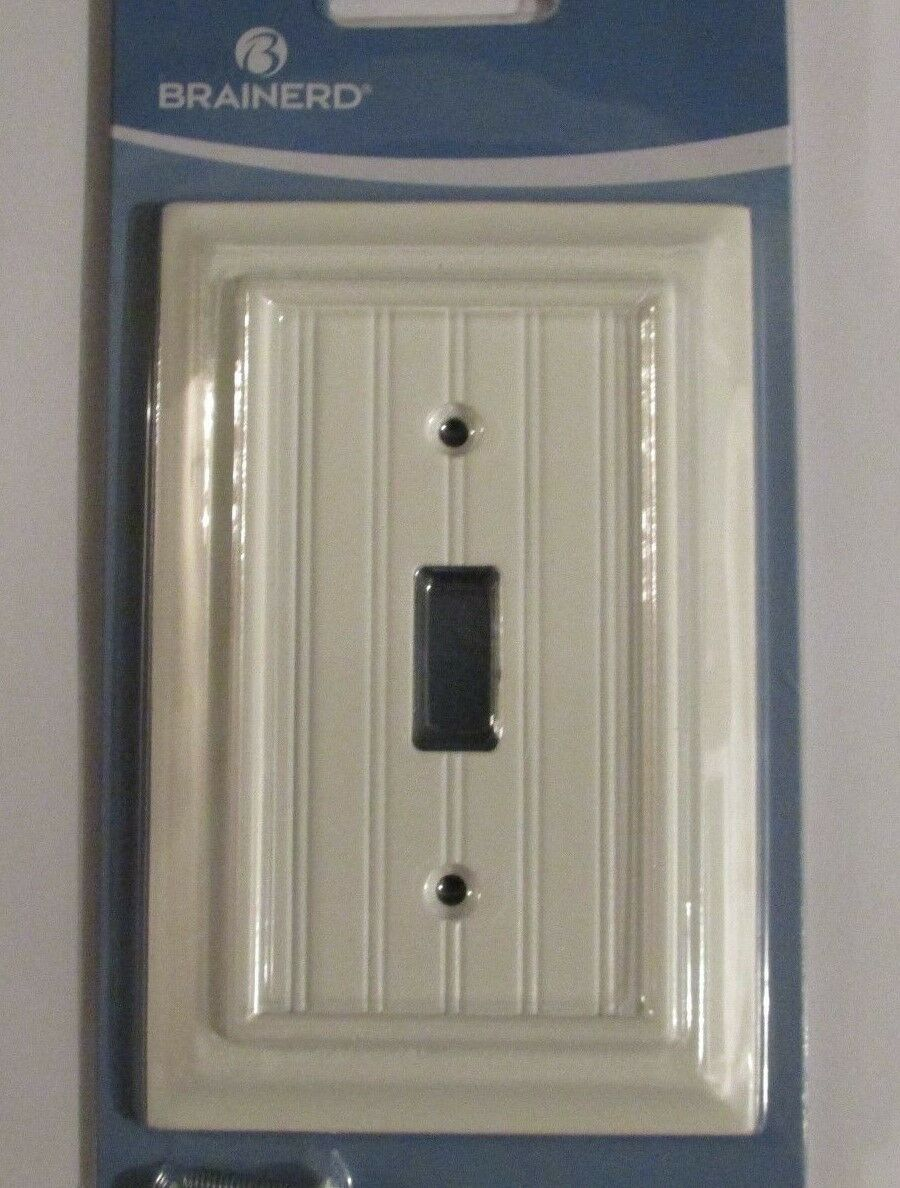 Oversized Outlet Covers Brainerd Deluxe Single Toggle Switch Wall Plate Cover White
