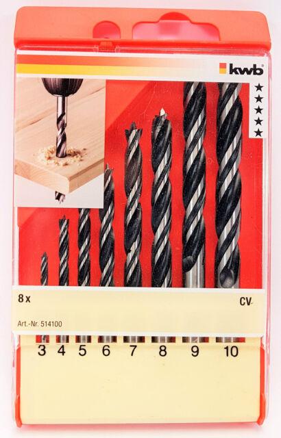 kwb Holzspiralbohrersatz Ø 3 - 10 mm 514100 8-teilig Spiralbohrersatz, Bohrer