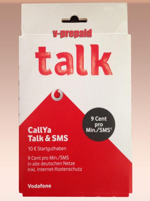 D2 Vodafone CallYa Prepaid Talk & SMS 10€ Guthaben Sim Karte inkl. EU Roaming