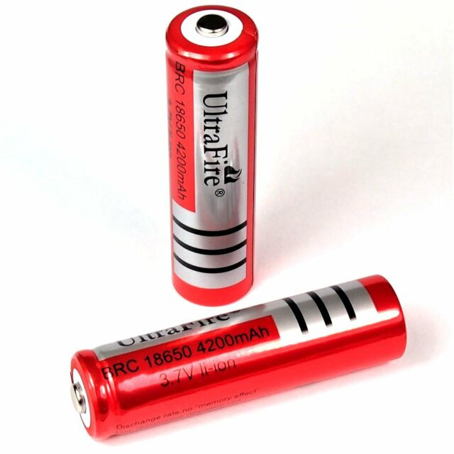 2 x ULTRA FIRE BRC 4200 mAh Lithium ion battery 3,7 V 18650 Li  - ion 66 x 18 mm