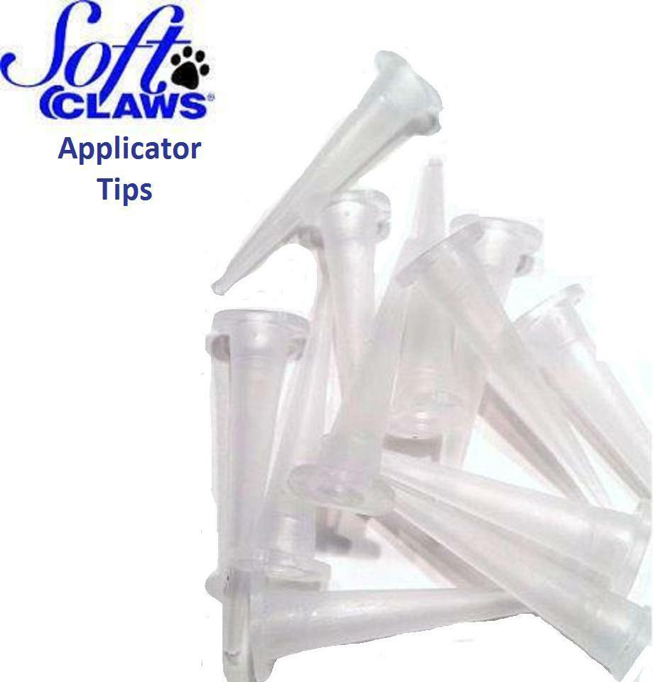 20 Applicator Tips Nozzles for Soft Claws Nail Caps Cat Dog Adhesive ...