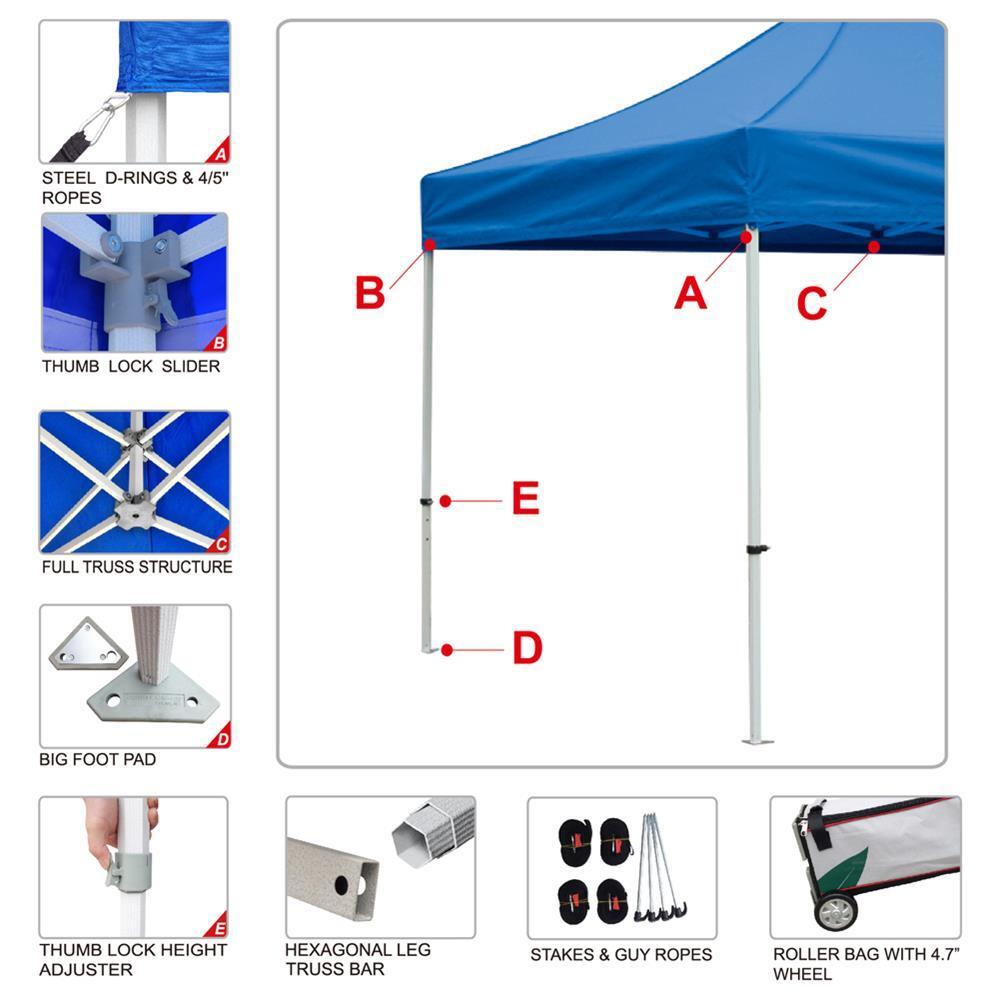 8  sc 1 st  eBay & EZ Pop up Canopy 10x20 Blue Outdoor Gazebo Market Marquee Tent ...