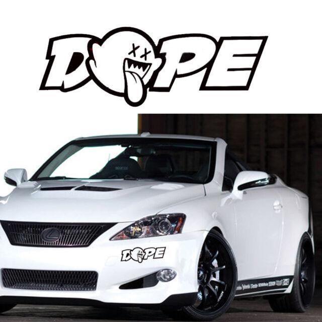 8 x 3 jdm dope custom car truck window drift vinyl decal sticker funny