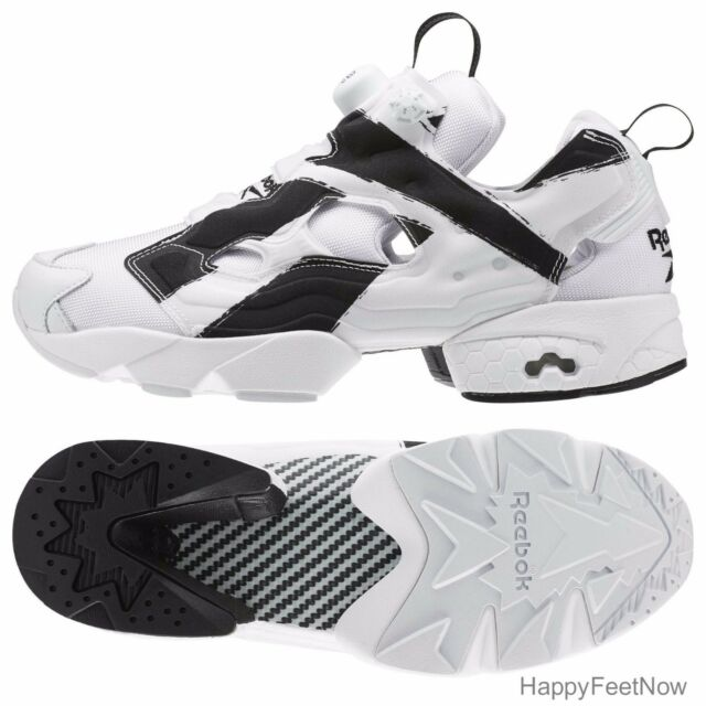 REEBOK FUTURE INSTAPUMP FURY OVERBRANDED MEN'S SHOES SIZE 9.5 WHITE BLACK AR1413