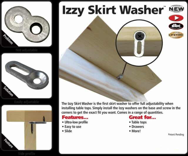 New FastCap Izzy Skirt Washer For Table Top Installation 10 PC.