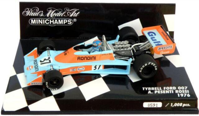 Minichamps Tyrrell Ford 007 1976 - Alessandro Pesenti-Rossi 1/43 Scale
