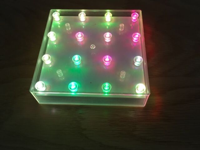 Square Led Battery Light Base With 16 Colour Changing Lights Vase