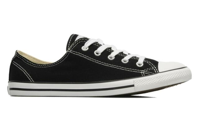 BLACK AND WHITE Dainty SLIM Converse All Star Taglia 5