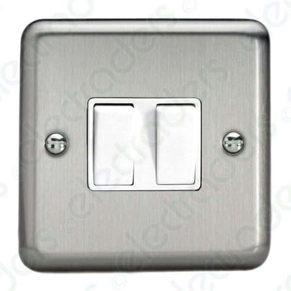 VARILIGHT XS77W 2 Gang Double 3 Way Intermediate Switch 10 Amp