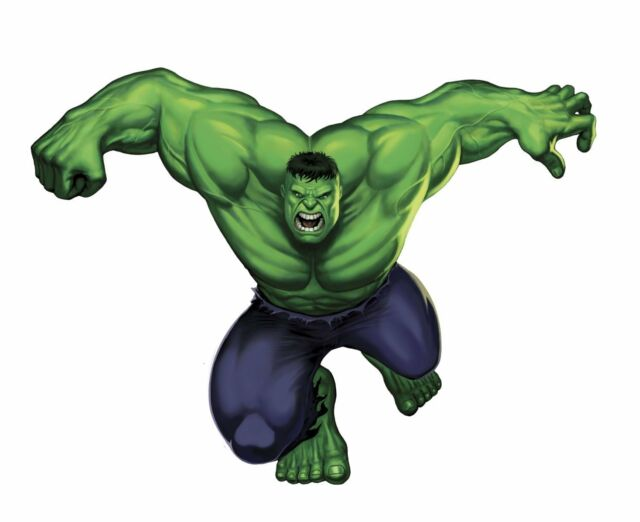 Marvel superheroes comic avengers the incredible hulk giant wall decal sticker