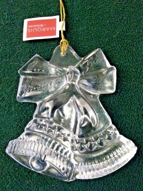 Marquis by Waterford Ornament 2013 Our First Christmas Bells 160501 ... - Marquis By Waterford 2013 Our First Christmas Ornament Style #160501