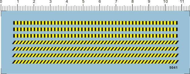decals Warning strips for model kits 5041A