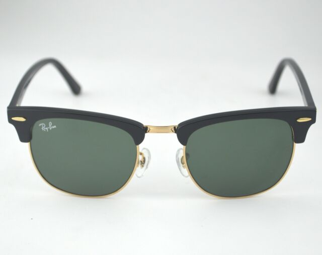 Ray Ban Rb3016 Clubmaster Classic W0365 Black Frame/Green Classic G 15 Lenses by Ebay Seller