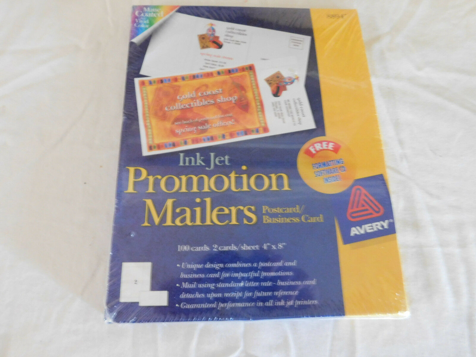2 boxes avery promotion mailers postcard promotional business card picture 1 of 2 magicingreecefo Gallery