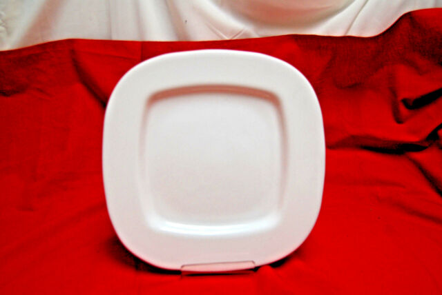 1-Set of 14 / Luminarc \ SQUERA\  (#G9978) White 9 & Set of 4 Luminarc Dinner Plate(s) Square 9 3/4 White Made in France ...