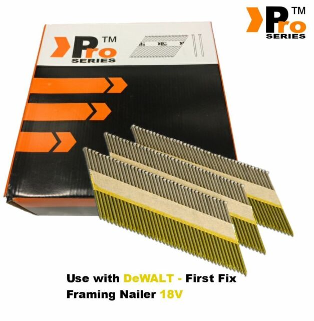 Framing Nails,Clipped D-Head , 2k nails  for DEWALT 18v Cordless First Fix  00