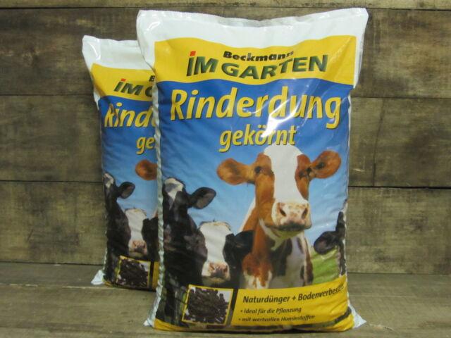 25kg (2x12,5kg) Rinderdung Kuhmist Gartendünger Universaldünger Dünger organisch