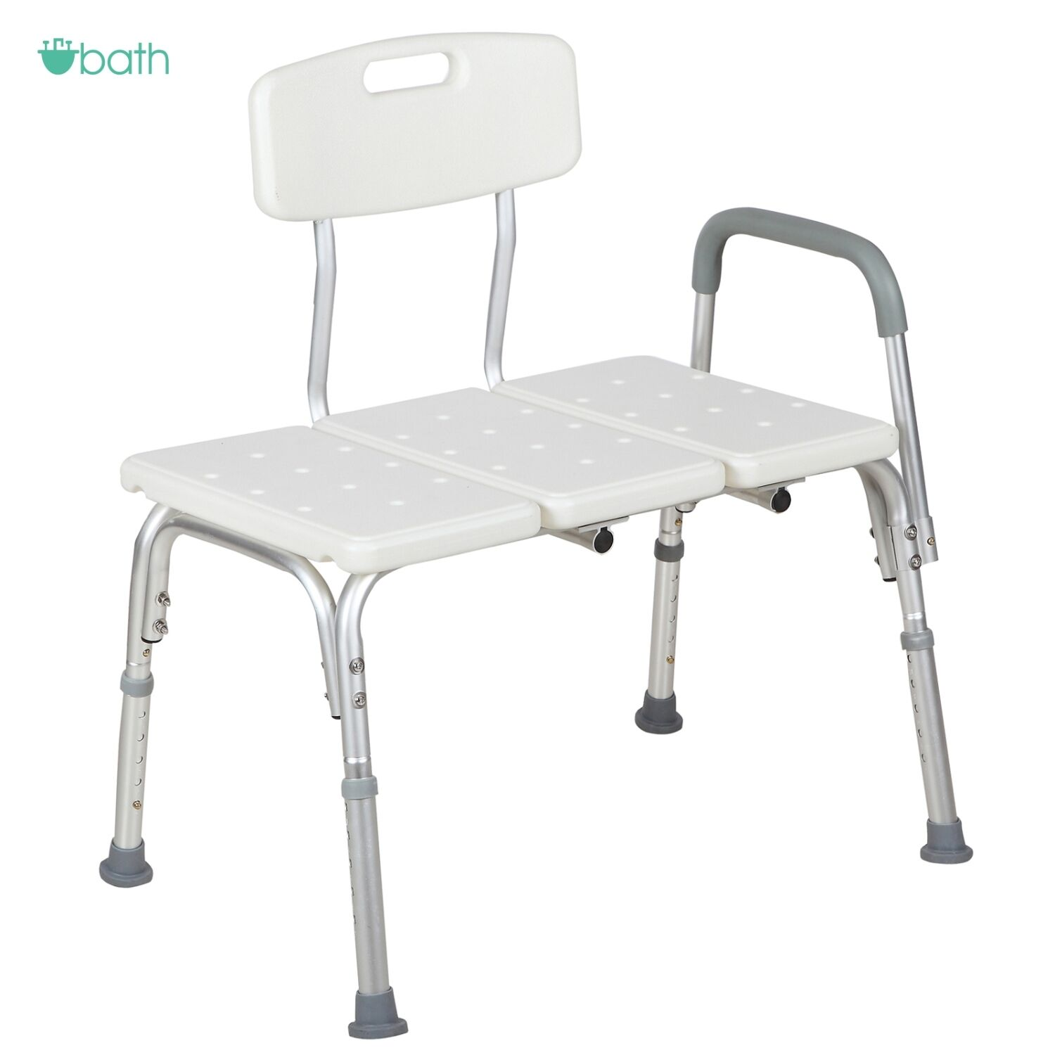 Shower Chair 10 Height Adjustable Bath Tub Bench Stool Seat Back and ...