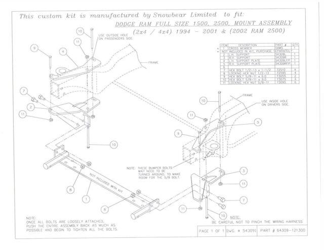 snowbear 397 003 black snow plow mounting brackets for 94 01 dodge rh ebay com snowbear plow wiring diagram snowbear snow plow wiring diagram