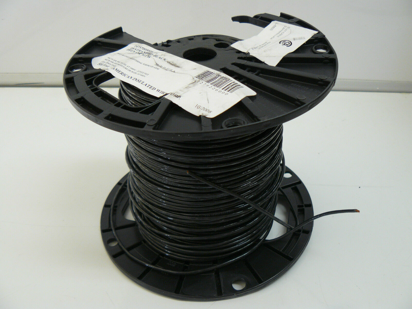 American Insulated Equip Wire 1475700500s 18 Stranded Black TFFN or ...
