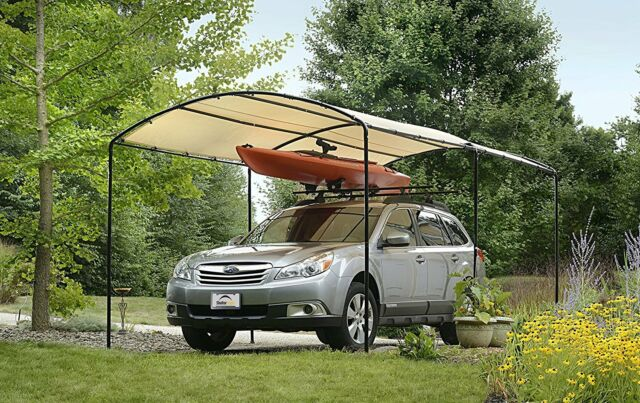 Carport Canopy Shelter Tent Car Auto Garage Truck Boat Gazebo Enclosure 9 x 16 & Shelter 9 X 16 Car Canopy Summer Tent Garage Alternative Carport ...