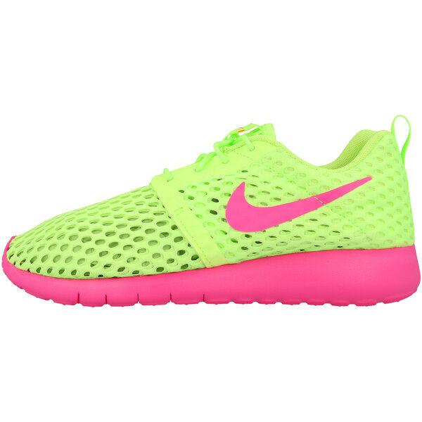 9ed6118013779 Nike Roshe One Flight Weight GS Green Pink Kids Running SNEAKERS 705486-300  UK 4