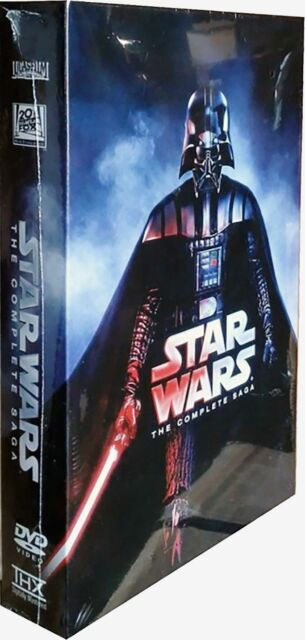 Star Wars: The Complete Saga  (I,II,III,IV, V, VI, 12-Disc Box Set) DVD FORMAT!!