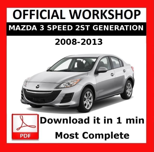 official workshop manual service repair mazda 3 speed 2nd gen 2008 rh ebay co uk Haynes Manual 2008 Mazda 3 Haynes Manual 2008 Mazda 3