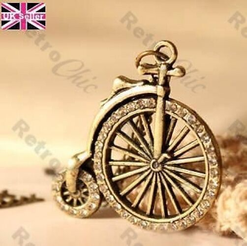 Victorian bicycle pendant necklace crystal rhinestone vintage victorian bicycle pendant necklace crystal rhinestone vintage brass steampunk aloadofball Gallery