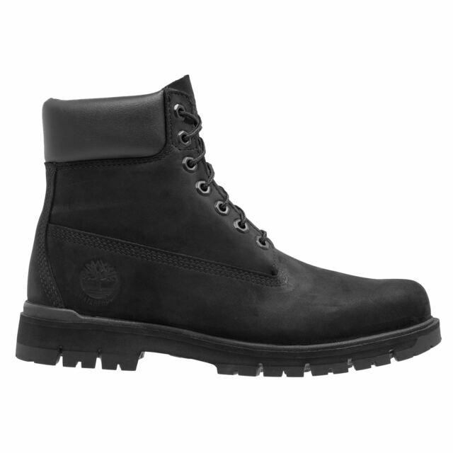 Timberland Radford 6-Inch Waterproof Black Mens Nubuck Lace-up Ankle Boots