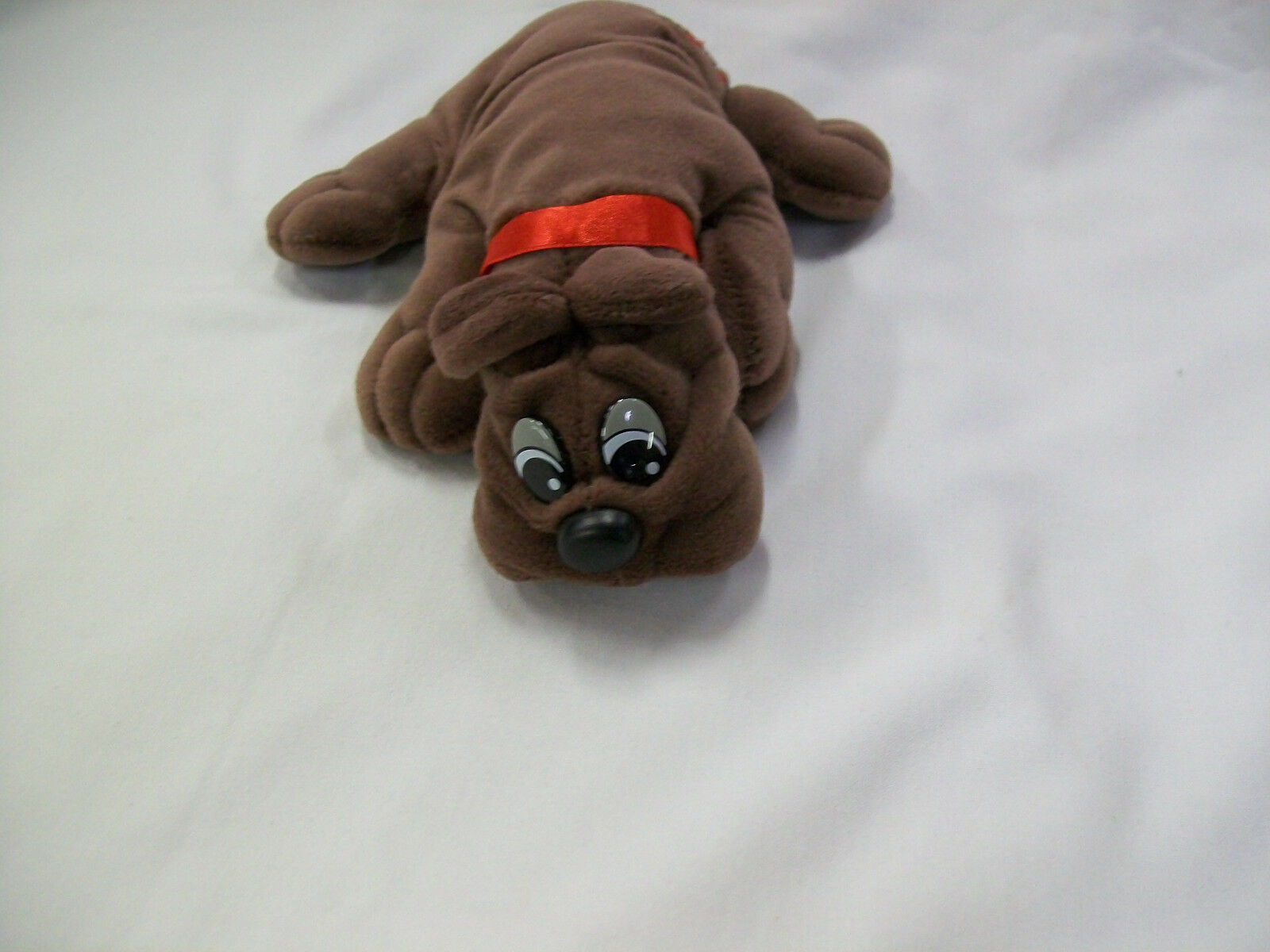 Tonka Collectible Pound Puppy Brown Rumple Skins Red Collar