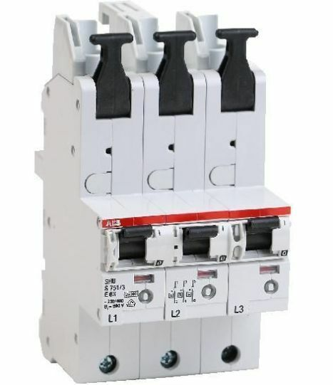 ABB Hauptsicherungsautomat S751/3-E35, S751/3-E50, S751/3-E63 SLS-Schalter