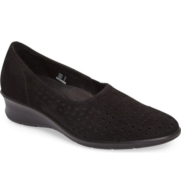 Felicia Summer Perforated Nubuck Slip-On Flats L9lUfc