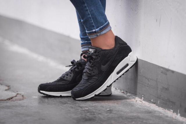 womens nike air max 90 premium black crockery