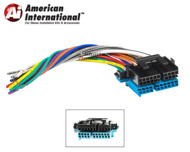 american intl 1988 2005 gm car stereo wiring harness ebay rh ebay com 2004 Ford Explorer Stereo Wire Harness Dual Car Stereo Wire Harness